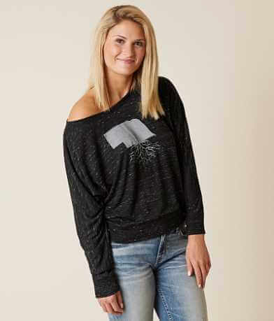 WYR Nebraska Roots Off The Shoulder Top