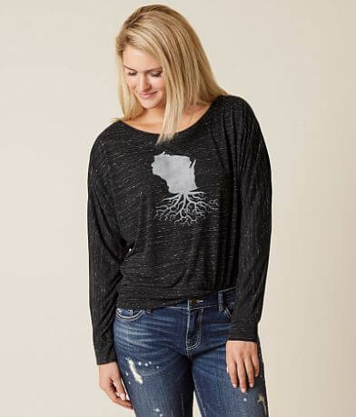 WYR Wisconsin Roots Off The Shoulder Top