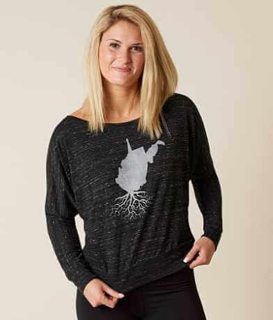 WYR West Virginia Roots Off The Shoulder Top