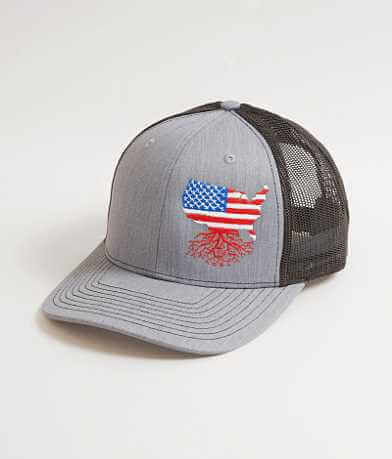 WYR USA Roots Trucker Hat