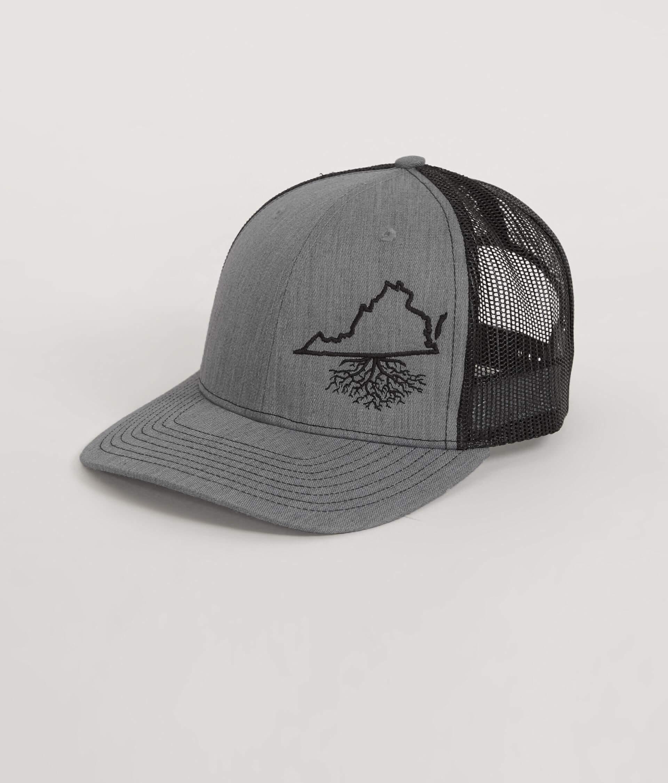 ba73d44ac83 WYR Virginia Roots Trucker Hat - Men s Hats in Heather Black