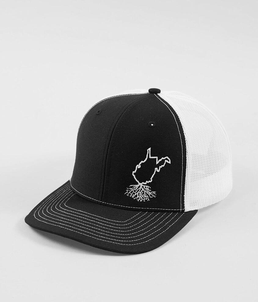 d62b40398f8 WYR West Virginia Roots Trucker Hat - Men s Hats in Black White