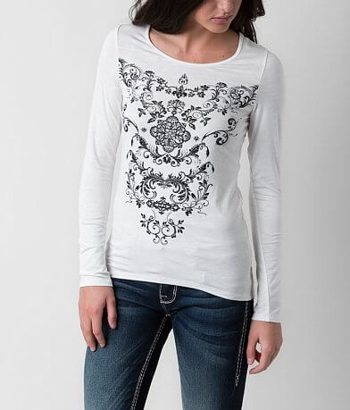 Angels & Diamonds Winter Floral Top