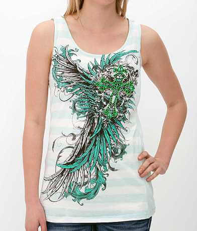 Angels & Diamonds Twist Back Tank Top