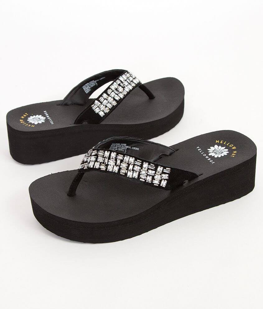 8680b6031 Yellow Box Parita Flip - Women s Shoes in Black Clear