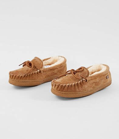 Boys- Lamo® Leather Moccasin Slipper