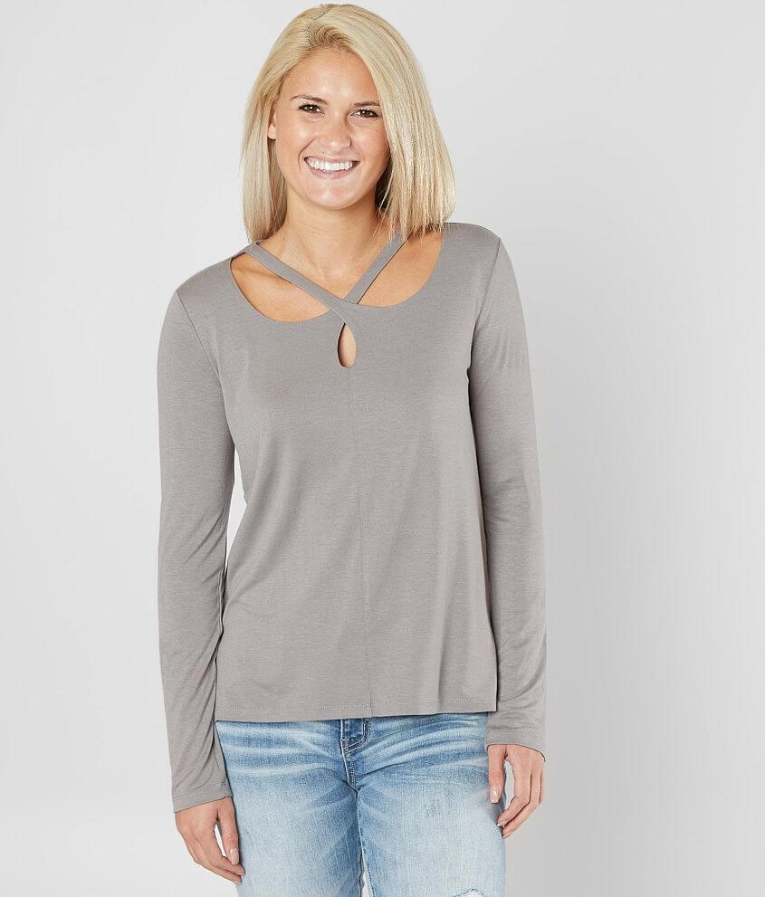 White Crow Cara Criss Cross Top front view