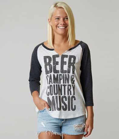 I.O.C. Beer, Campin & Country Music T-Shirt