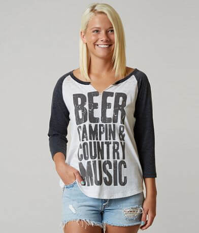 I.O.C. Beer, Campin & Country Music T-Shirt