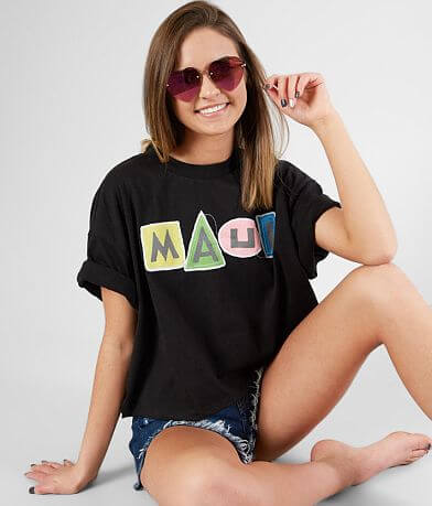 Maui & Sons Splash Cropped T-Shirt
