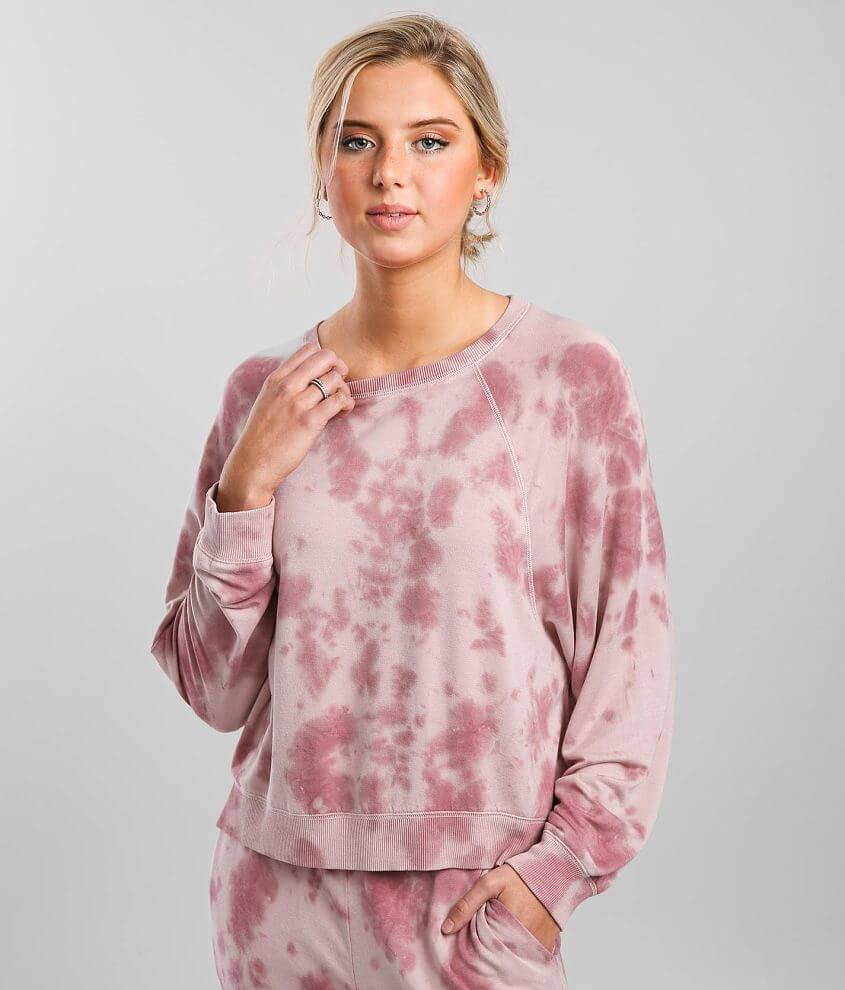 Z Lounge Sleep Over Tie Dye Pullover front view
