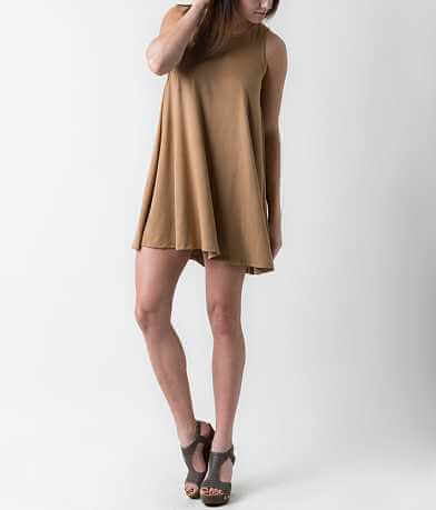 Others Follow Faux Suede Dress