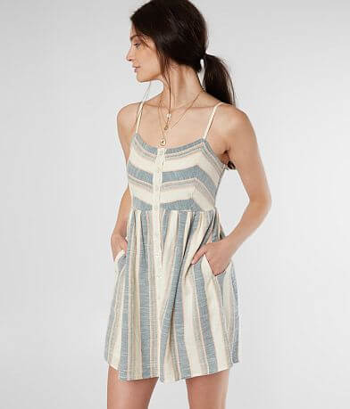 Others Follow Clemente Woven Striped Dress