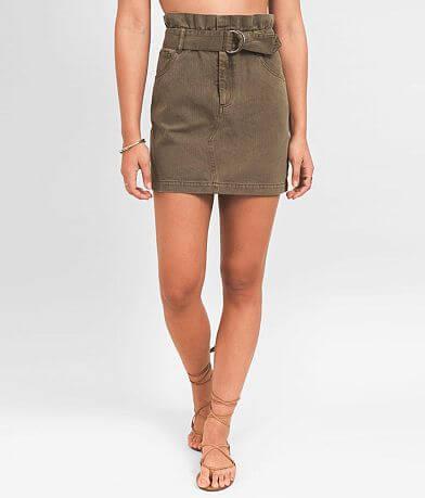 Others Follow Recruit Paperbag Denim Skirt