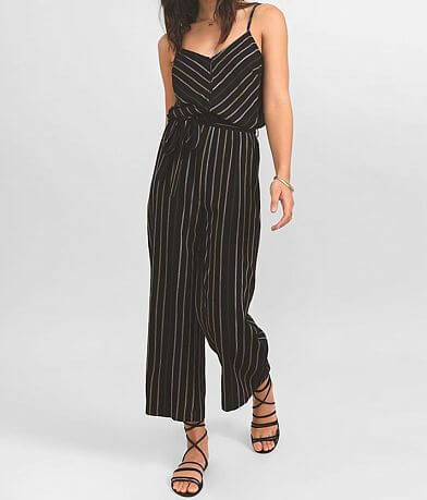 Others Follow Charlie Striped Wide Leg Jumpsuit