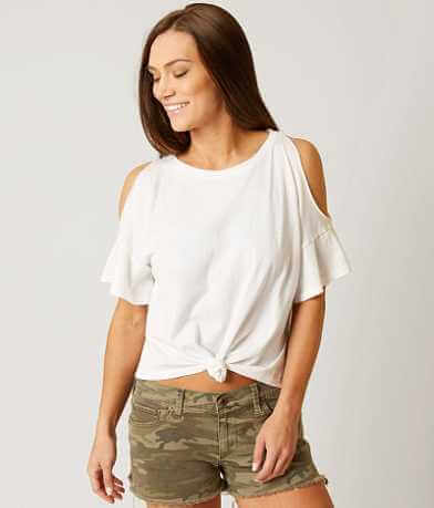 White Crow Solana Cold Shoulder T-Shirt