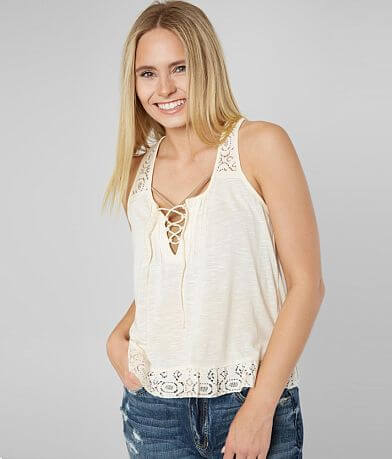 Others Follow The Fulmer Lace-Up Tank Top