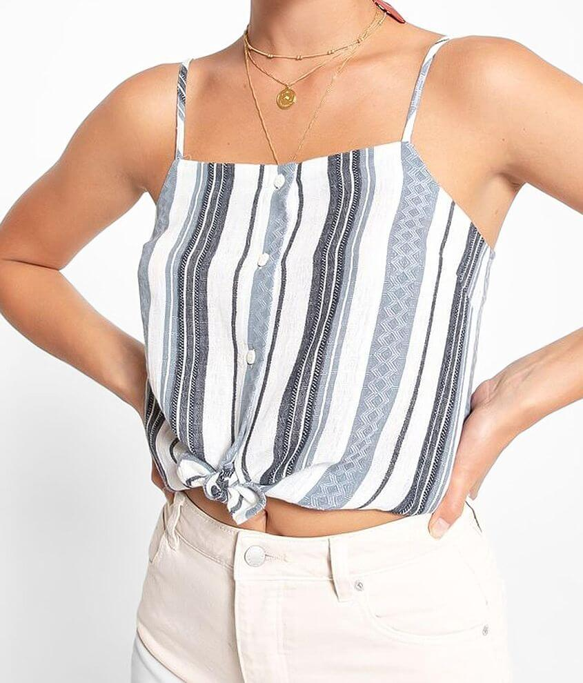 Others Follow Catania Woven Tank Top front view
