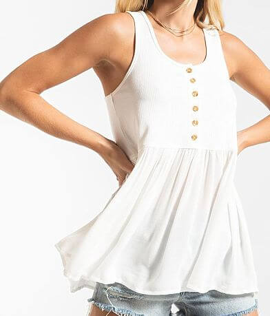 Others Follow Harlow Peplum Tank Top