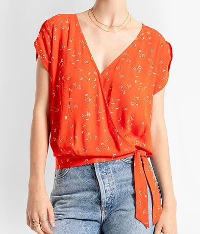 Others Follow Floral Surplice Top