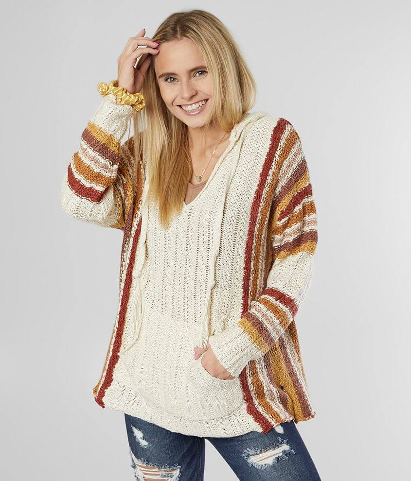 White Crow Finn Hooded Pullover Sweater front view