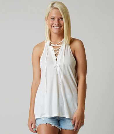 White Crow Lace-Up Tank Top