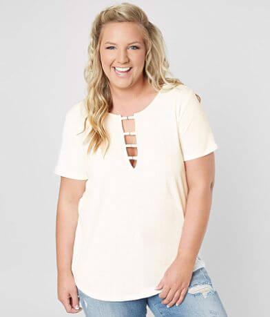 White Crow The Cut-Out Lattice T-Shirt - Plus Size