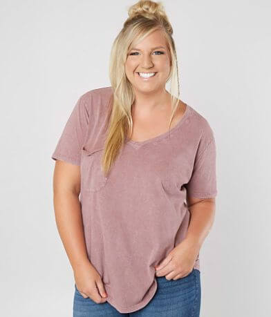 White Crow The Washed T-Shirt - Plus Size Only