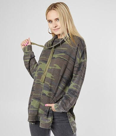 White Crow Camo Waffle Pullover