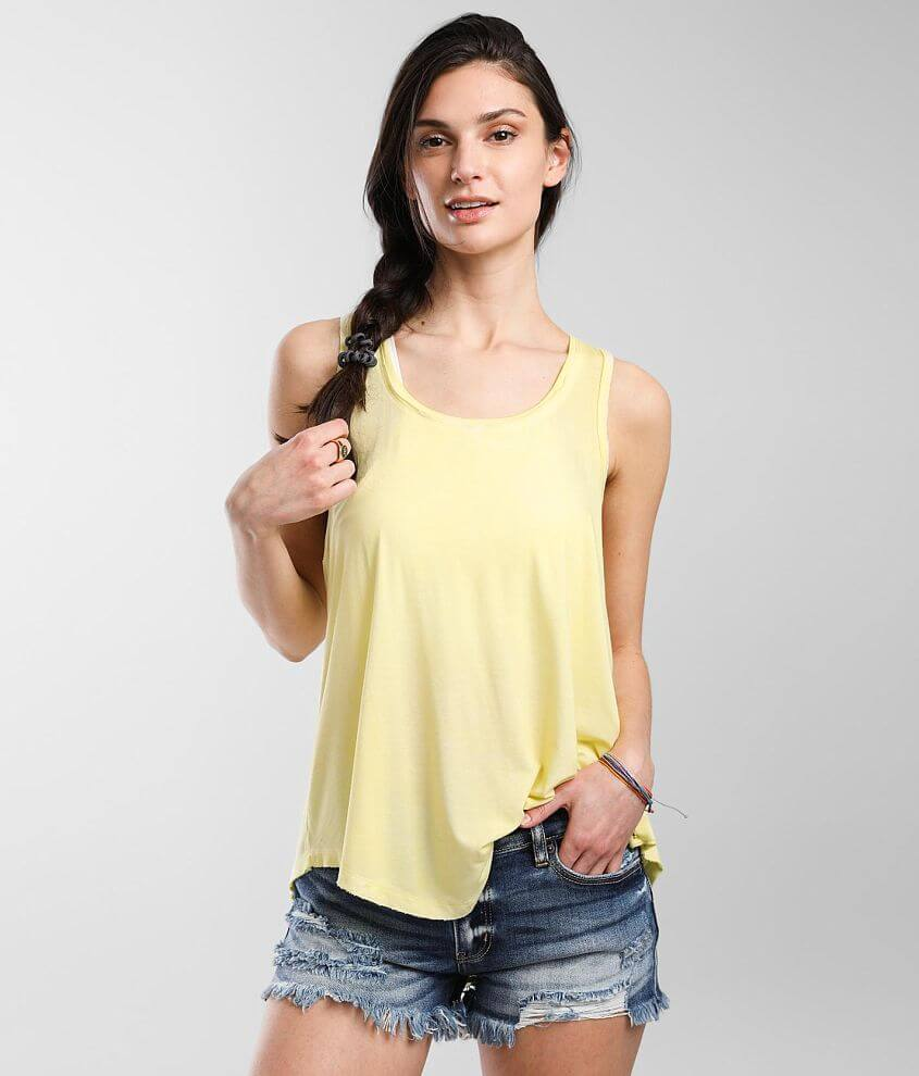 White Crow Wide Scoop Neck Tank Top front view