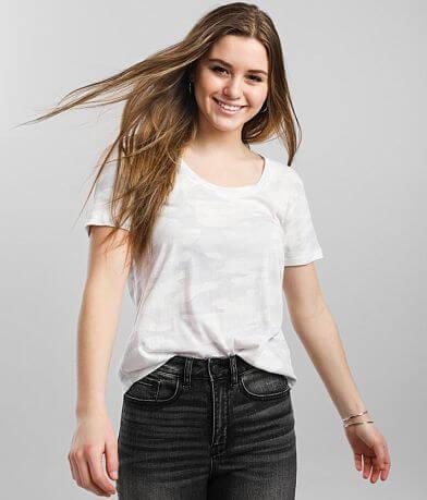 White Crow Camo Scoop T-Shirt