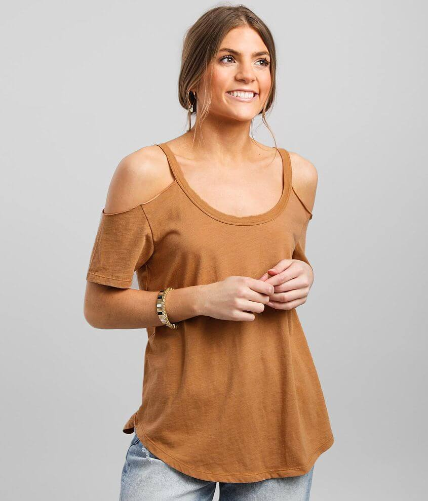 White Crow Cold Shoulder Top front view