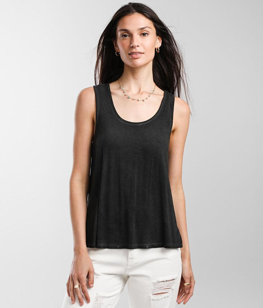 White Crow Lupita Washed Tank Top front view