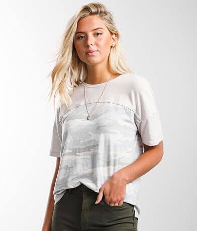 White Crow Pieced T-Shirt