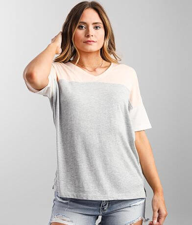 White Crow Pieced Color Block T-Shirt