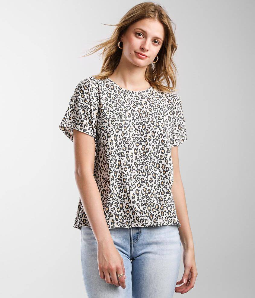 White Crow The Leopard T-Shirt front view