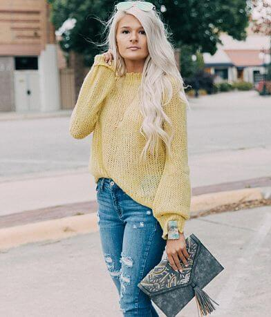 White Crow Open Weave Sweater