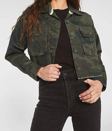 Rag Poets Savona Camo Cropped Jacket