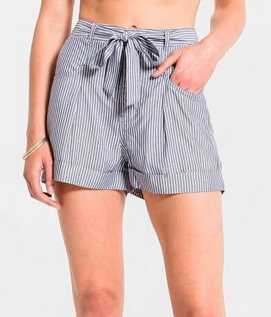 Rag Poets Anzio Woven Striped Short