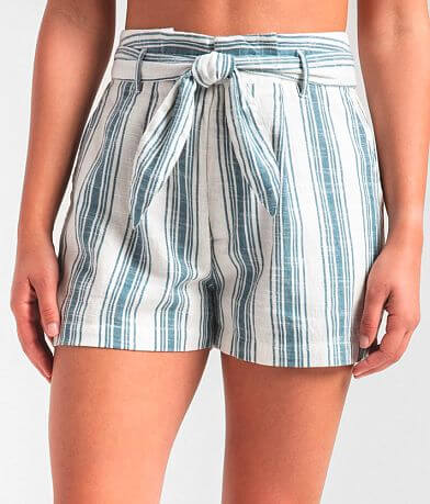 Rag Poets Tanah Woven Striped Short