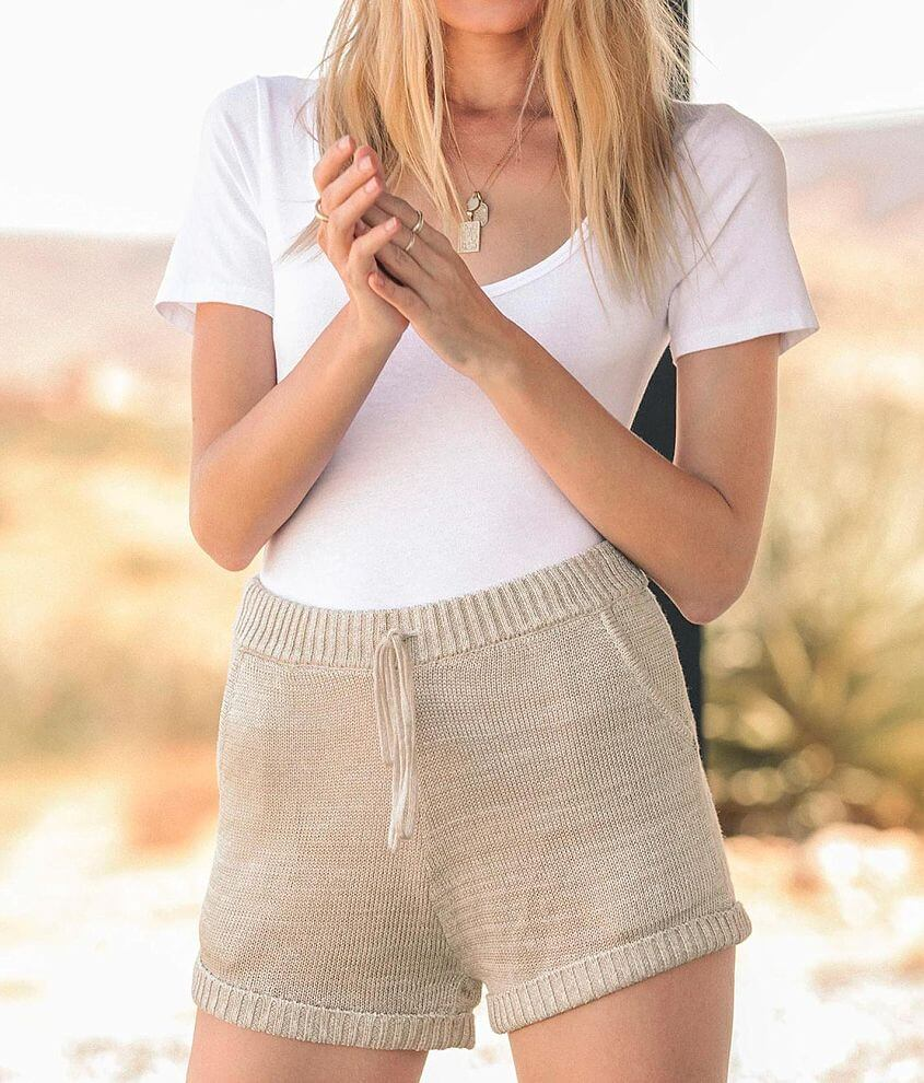 Rag Poets Ubud Cuffed Sweater Short front view