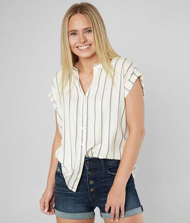 Rag Poets Pillar Beach Striped Shirt