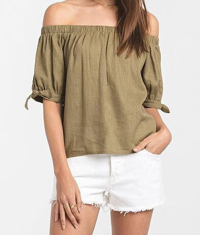 Rag Poets Lagoon Off The Shoulder Top