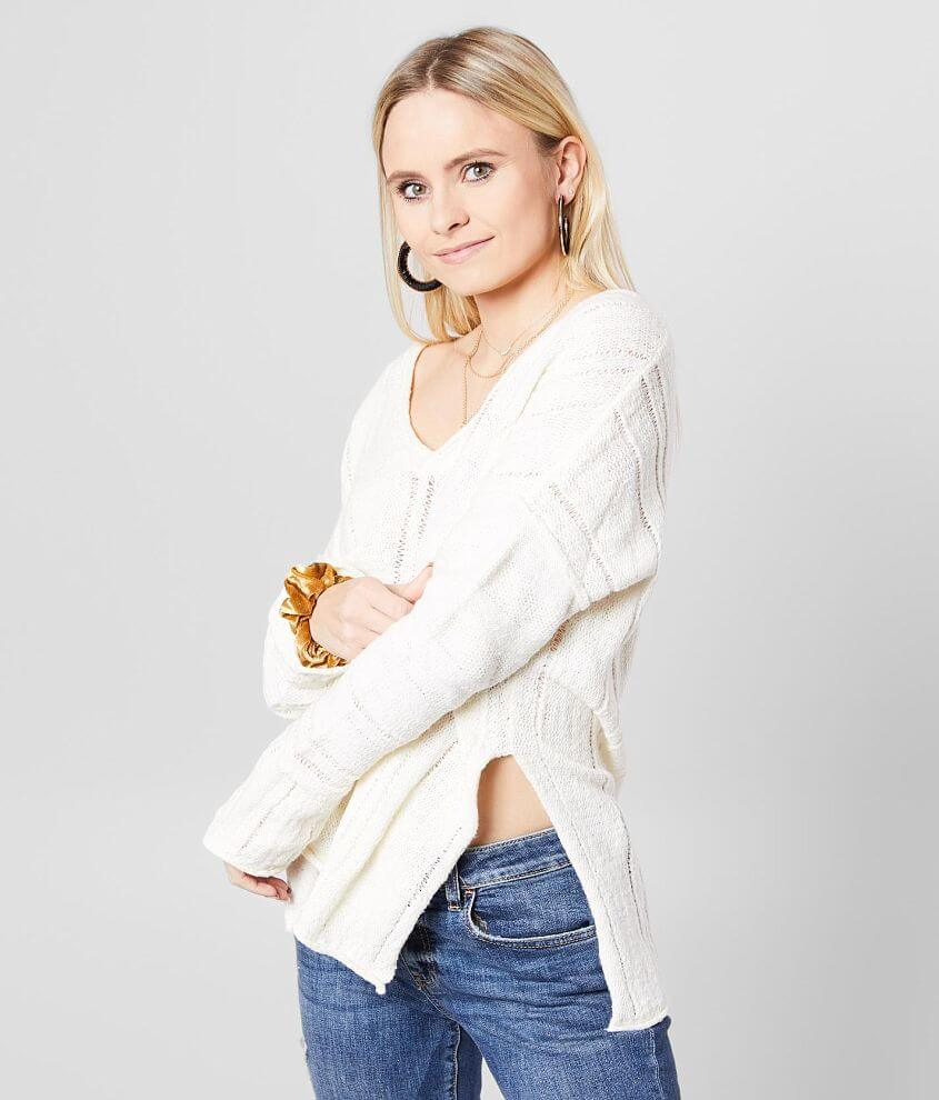 White Crow The Maiori V-Neck Sweater front view