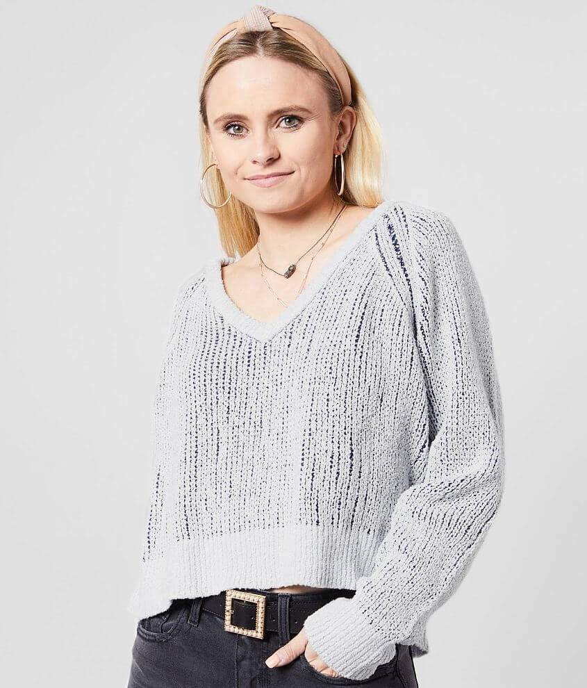 White Crow The Varenna Cropped Sweater front view