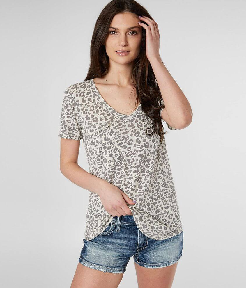 White Crow Leopard Top front view