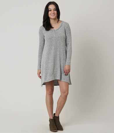 White Crow Heathered Henley Dress