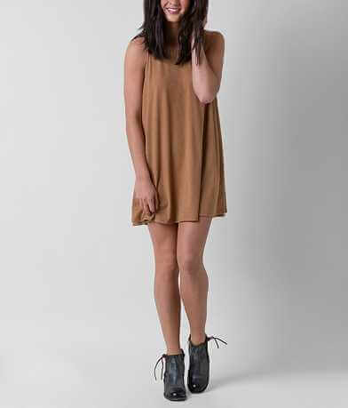 White Crow Faux Suede Dress