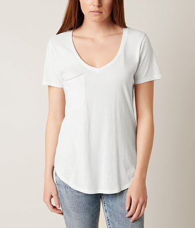 White Crow V-Neck T-Shirt