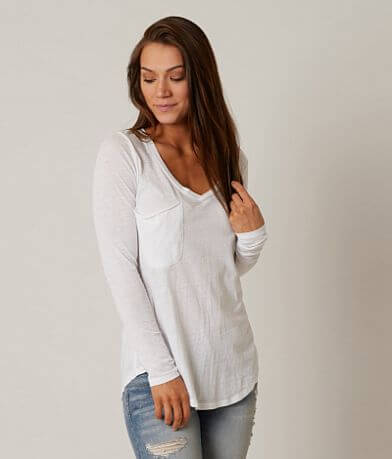 White Crow V-Neck Top